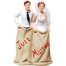 """Poročni par v žaklju, """"Just married"""", 12x7.5cm"""