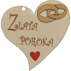 Srček Les Zlata Poroka