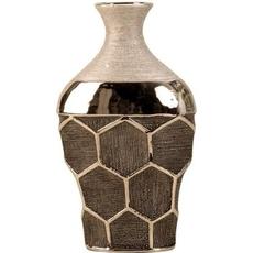 Dekorativna vaza, srebrna, 29.5x17.5cm