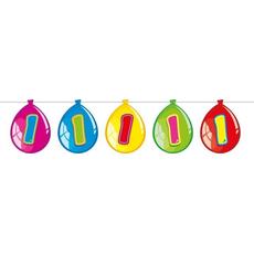 Girlanda z baloni  s številko 1, 10m, 15 balonov