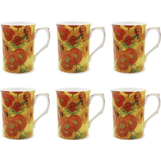 "Set lončkov ""Vincent Van Gogh - Sunflowers"" 6/1, porcelan, 10cm"