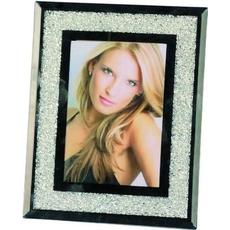 Okvir za sliko, steklen z biserčki, 18x23cm, (10x15cm)