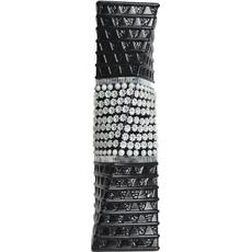 Vaza Dekorativa Kvadratna Črna Bela Spirala