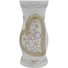 Vaza dekorativna okrogla, srebrna, 20cm
