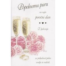 Voščilo Čestitka Poroka Popolni Par Poročni Dan Ljubezen