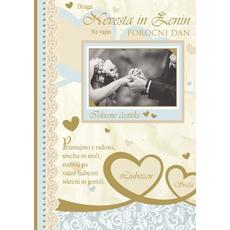 Voščilo Čestitka Poroka Praznovanje Radost Bleščice