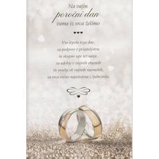 Voščilo, čestitka, poročna, iz srca vama želimo vso lepoto tega dne…, 16.5x24.5cm