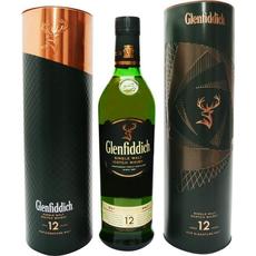 Whisky Glenfiddich 12 let, 0.7L, v pločevinki (dve različni embalaži)