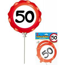 Balon Palčka Prometni Znak 50