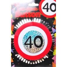 """Broška z utripajočimi Led lučkami, prometni znak """"40"""", fi 12cm"""
