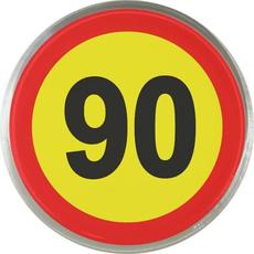 Magnet: Prometni znak 90, okrogel 6 cm