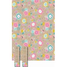 """Darilni papir in obešanka """"Manila Floral"""" 50x70cm, 2/1"""