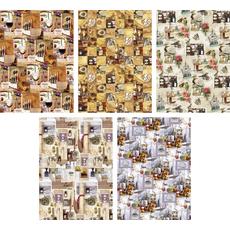 Darilni papir v roli 99,5 X 68,5 cm, vinski motiv, sortirano
