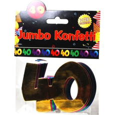 """Jumbo konfeti, 20kom, """"40"""""""