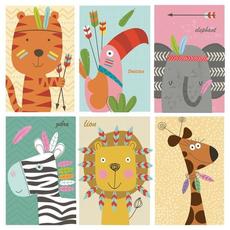 Papirnate serviete, otroški motiv, živali, 33x33cm, 20kom