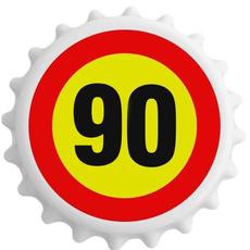 Odpirač magnet: Prometni znak 90, okrogel 6 cm