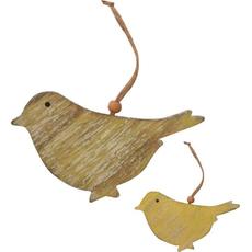Ptič lesen, star videz, za obesit, 7cm, sort.