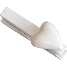 Srček na sponki biserni, 4,5 cm