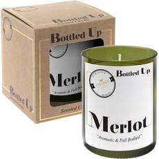 Svečka v steklenem kozarčku, Merlot, 9.5cm