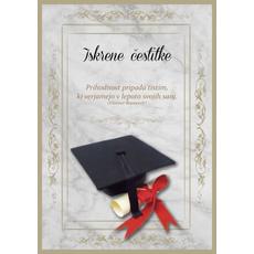 Voščilo Čestitka Bež Diploma Iskrene Čestitke Prihodnost