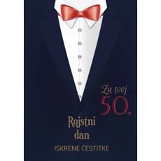 Voščilo Čestitka Črna Sako 50 Rojstni Dan Iskrene Čestitke