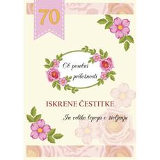 Voščilo Čestitka Rumena Roza Cvetje Posebna Priložnost 70
