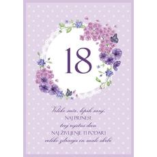 Voščilo Čestitka Vijolična Cvetje Sreča Sanje 18