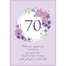 Voščilo Čestitka Vijolična Cvetje Sreča Sanje 70