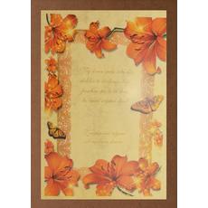 Diploma ROJSTNI DAN, Naj sonce sreče, lilija (36x25cm)