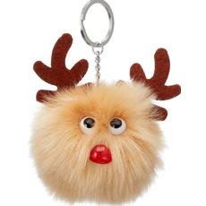 Obesek za na ključe, jelenček Rudolf, poliester, 8cm