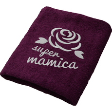 Brisača Super mamica, vijolična 100x5Ocm 100% bombaž
