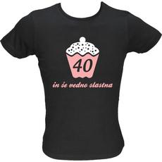 Majica ženska (telirana)-40 in še vedno slastna M-črna