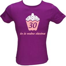 Majica ženska (telirana)-30 in še vedno slastna M-vijolična