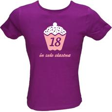 Majica ženska (telirana)-18 in zelo slastna M-vijolična
