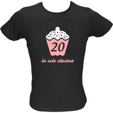 Majica ženska (telirana)-20 in zelo slastna XL-črna