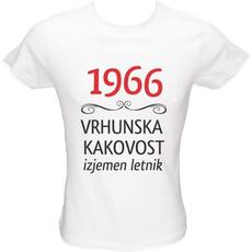 Majica ženska (telirana)-1966, vrhunska kakovost, izjemen letnik L-bela
