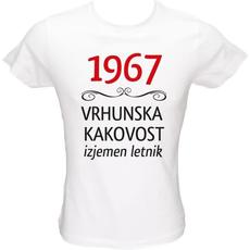 Majica ženska (telirana)-1967, vrhunska kakovost, izjemen letnik L-bela
