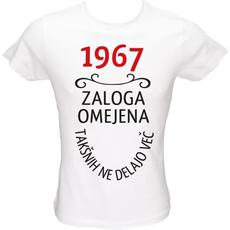 Majica ženska (telirana)-1967, zaloga omejena, takšnih ne delajo več L-bela