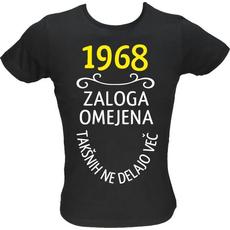 Majica ženska (telirana)-1968, zaloga omejena, takšnih ne delajo več XL-črna
