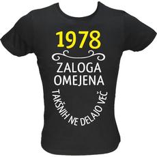 Majica ženska (telirana)-1978, zaloga omejena, takšnih ne delajo več XL-črna