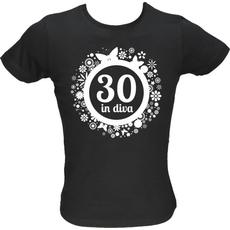 Majica ženska (telirana)-Diva 30 L-črna
