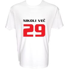 Majica-Nikoli več 29-za 30 Let XXL-bela