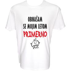 Majica-Obnašam se mojim letom primerno L-bela