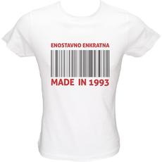 Majica ženska (telirana)-Enostavno enkratna (1993) L-bela