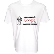 Majica-Jebeš Google SLIKA XXL-bela