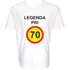 Majica-Legenda pri 70 Let M-bela