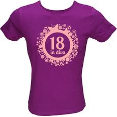 Majica ženska (telirana)-Diva 18 L-vijolična