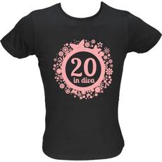Majica ženska (telirana)-Diva 20 XL-črna