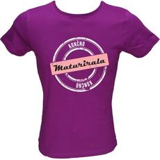 Majica ženska (telirana)-Končno maturirala L-vijolična