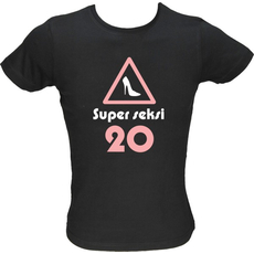 Majica ženska (telirana)-Super seksi 20 XL-črna